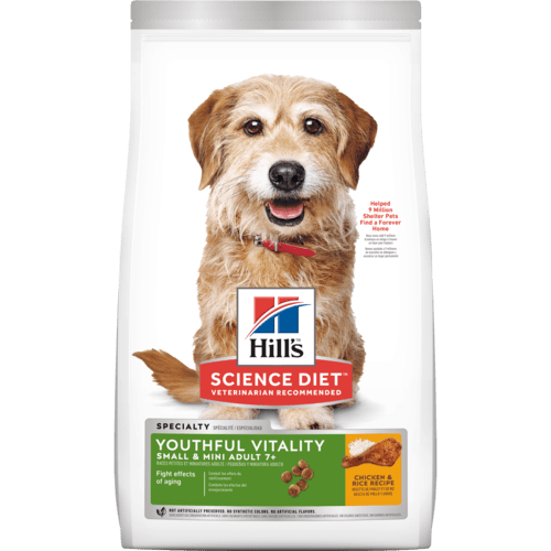 Hill's® Science Diet® Youthful Vitality Adult 7+ Small & Mini Chicken & Rice Recipe dog food